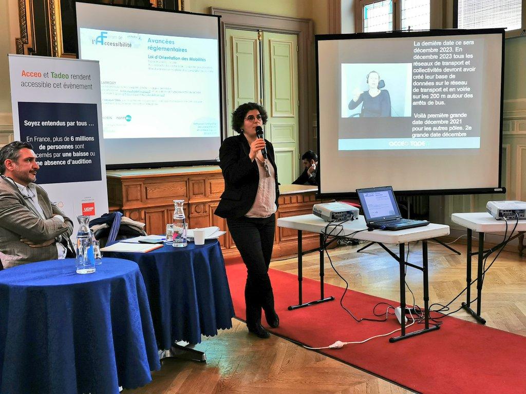 photo de Table ronde sur la Réglementation – Forum Accessibilité 2019 avec Muriel Larrouy